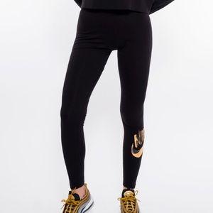 Nike Black Sportswear Metallic Leggings